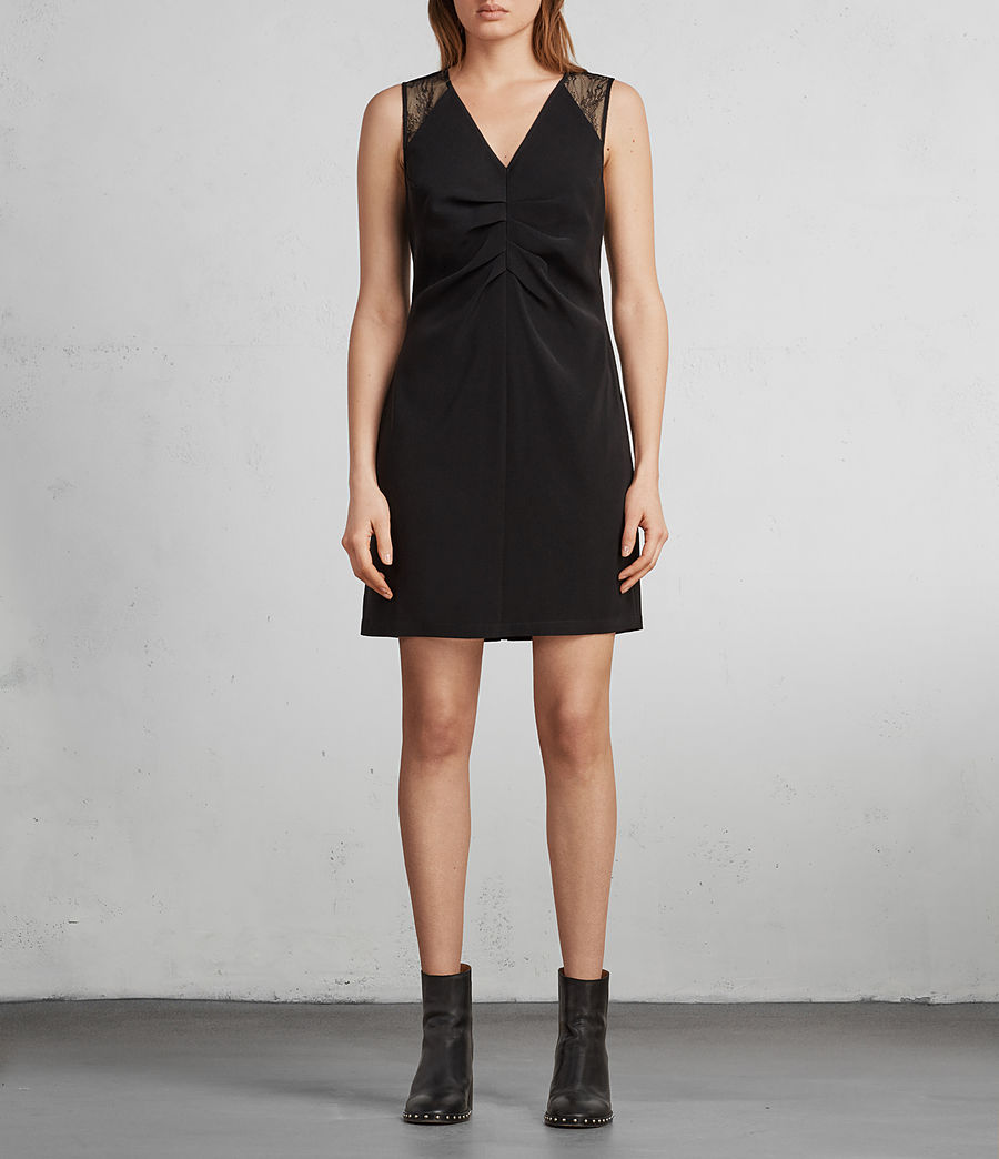Women's Olivia Dress (Black) - Image 1