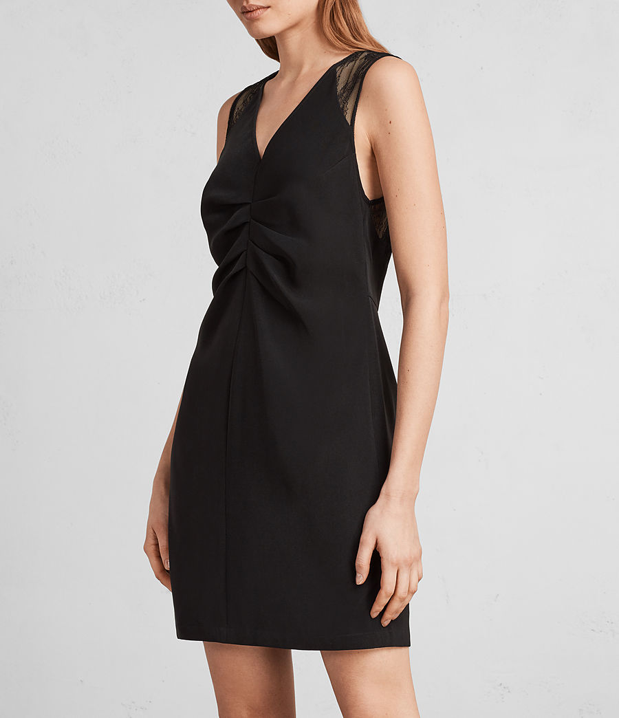 Women's Olivia Dress (black) - Image 3