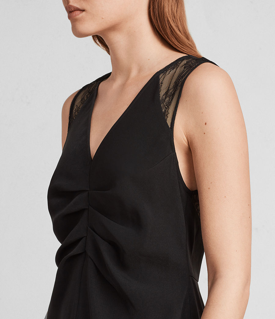 Women's Olivia Dress (black) - Image 4