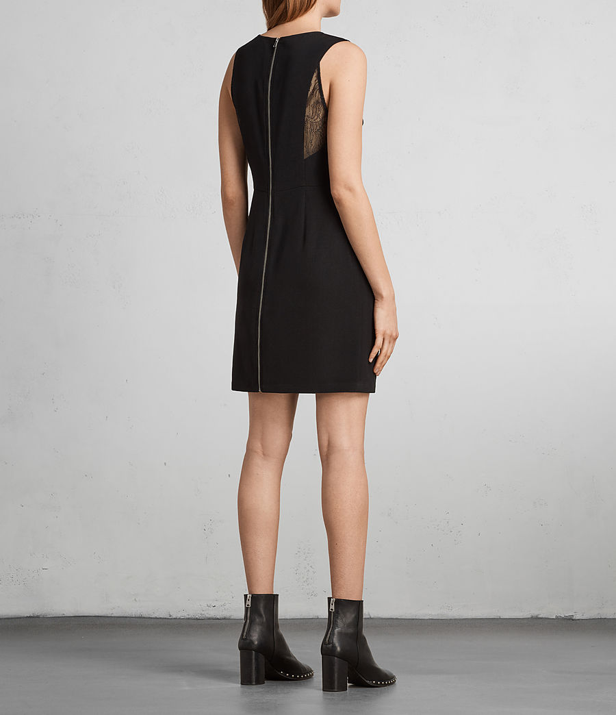 Women's Olivia Dress (Black) - Image 5