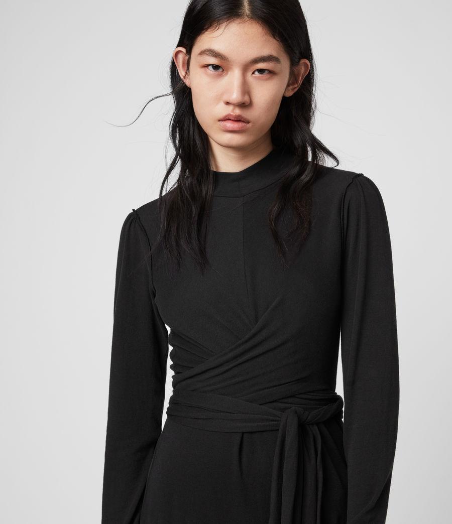 Mujer Vestido de Manga Larga Veronika (black) - Image 2