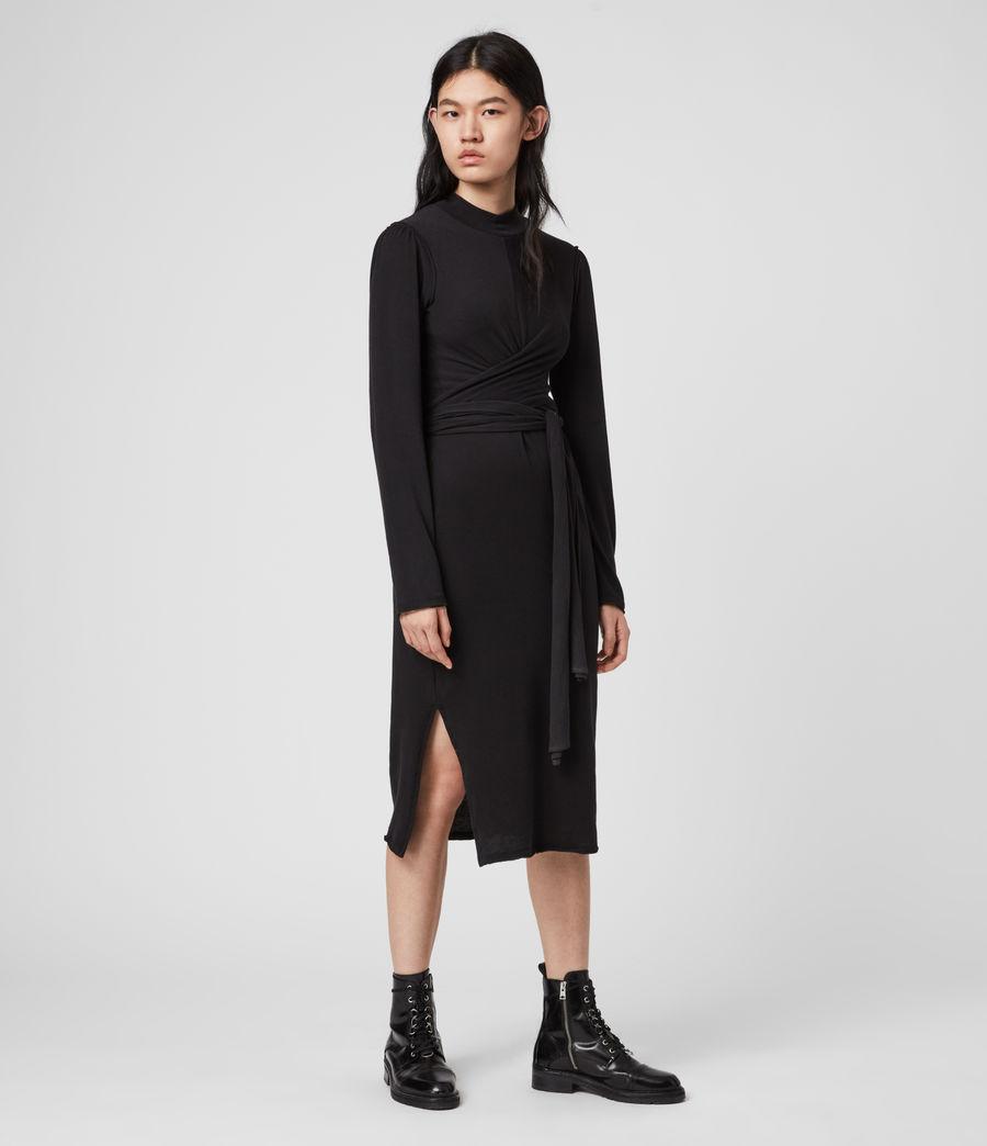 Mujer Vestido de Manga Larga Veronika (black) - Image 4