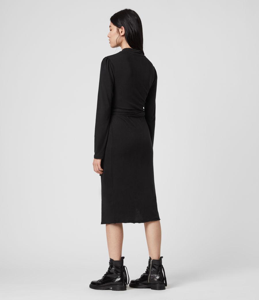 Mujer Vestido de Manga Larga Veronika (black) - Image 5