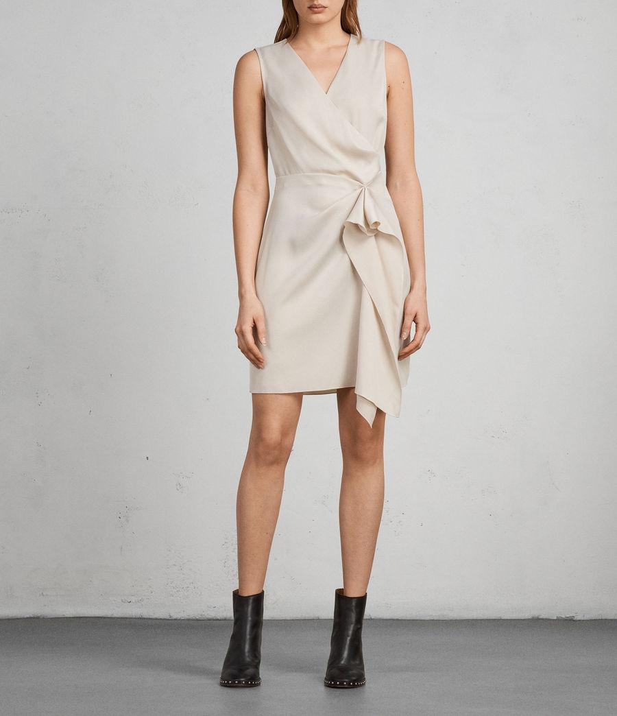 Women's Erica Dress (pastel_white) - Image 1