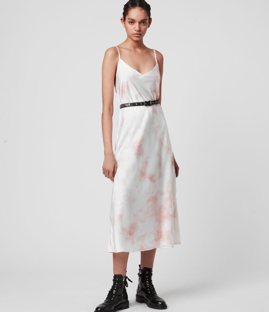 Damen Benno Dye 2-in-1 T-Shirtkleid (chalk_white_pink) - Image 2