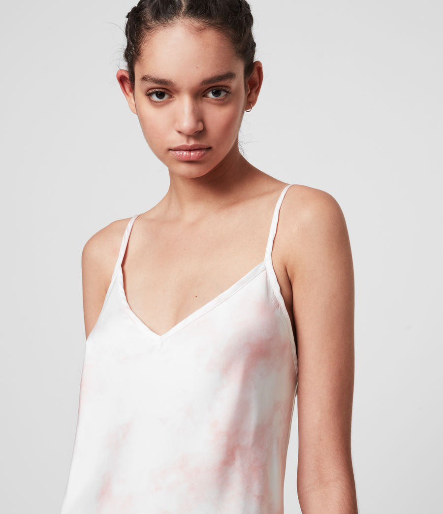 Mujer Benno Dye 2-in-1 T-Shirt Dress (chalk_white_pink) - Image 3