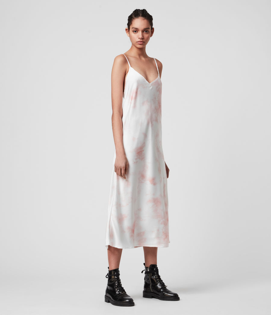 Damen Benno Dye 2-in-1 T-Shirtkleid (chalk_white_pink) - Image 4