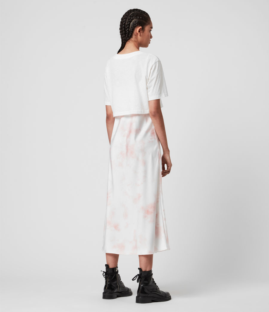 Damen Benno Dye 2-in-1 T-Shirtkleid (chalk_white_pink) - Image 5