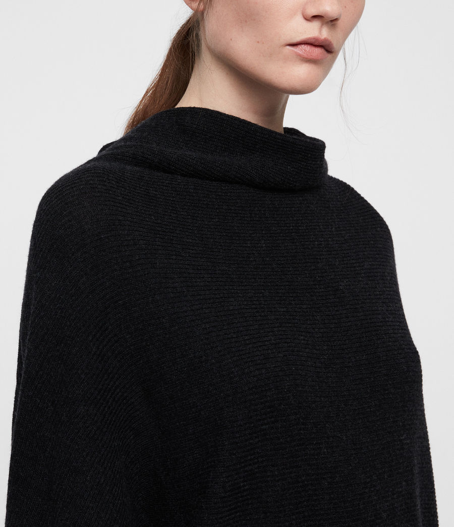 Women's Ridley Cowl Dress (cinder_black_marl) - Image 2