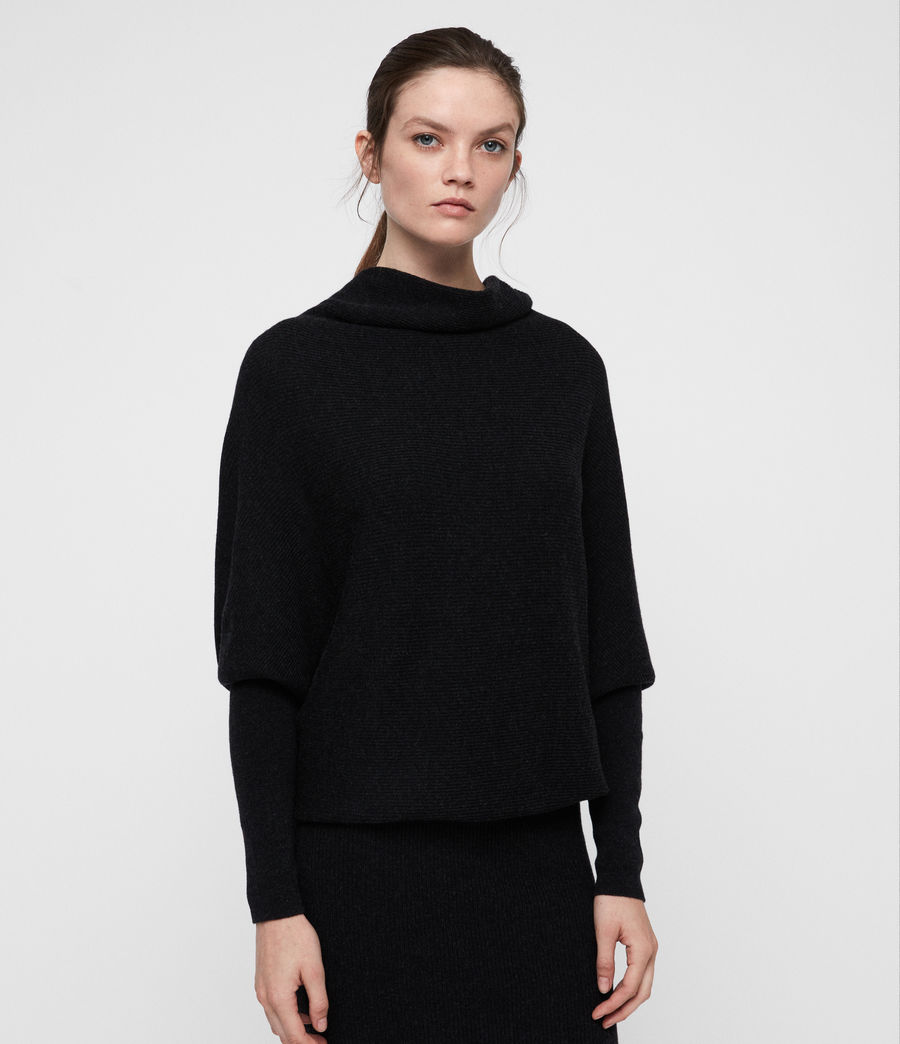 Women's Ridley Cowl Dress (cinder_black_marl) - Image 3