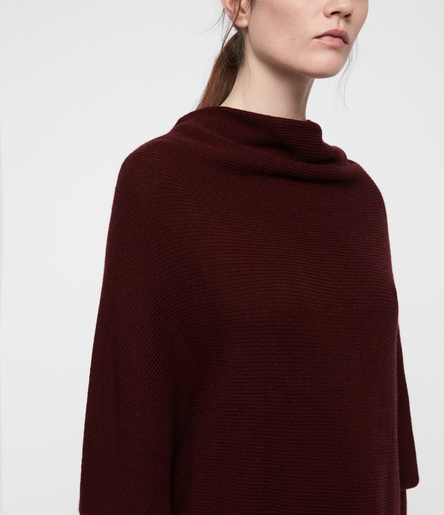 Women's Ridley Cowl Dress (dark_rust_red) - Image 2
