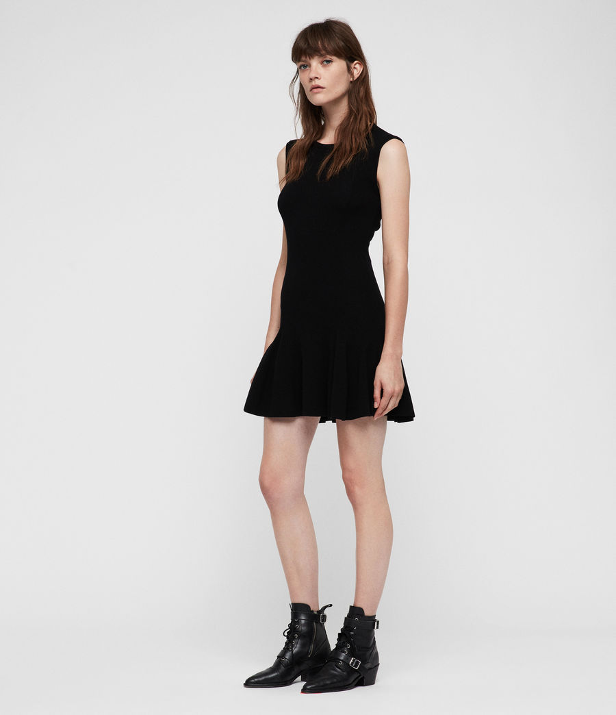 Women's Cindy Dress (black) - Image 3