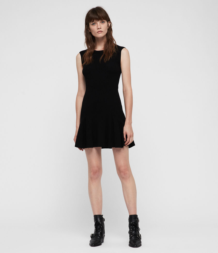 Women's Cindy Dress (black) - Image 4