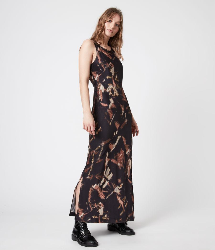 Womens Sigourney 2-In-1 Tie Dye Dress (black) - Image 4