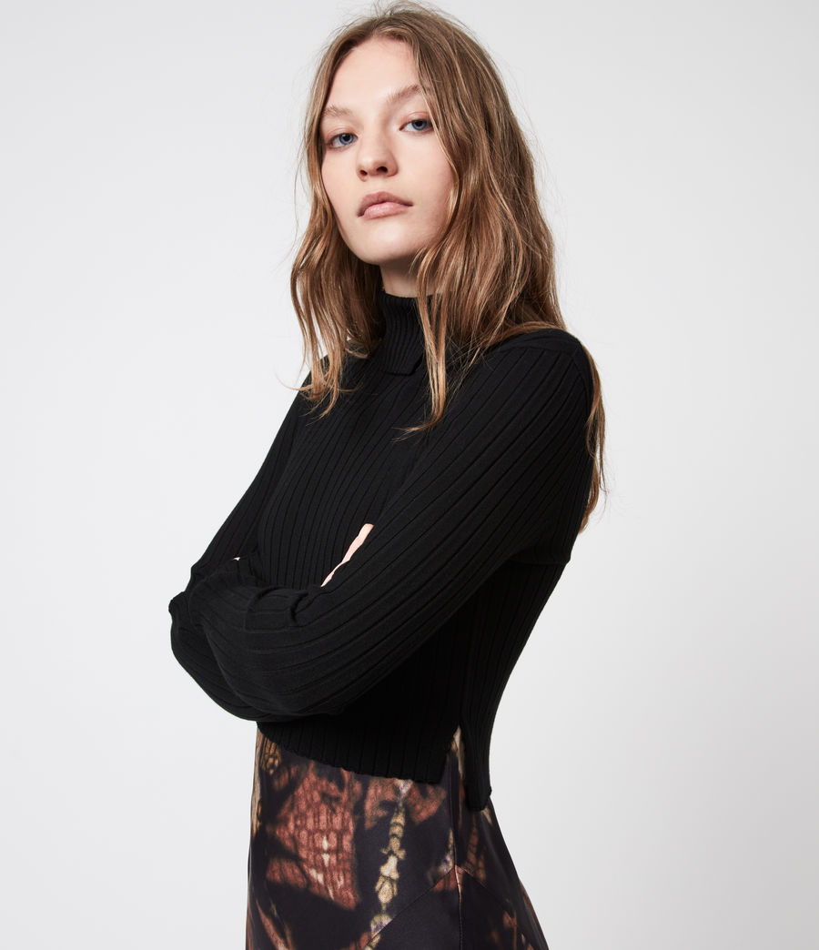 Womens Sigourney 2-In-1 Tie Dye Dress (black) - Image 8
