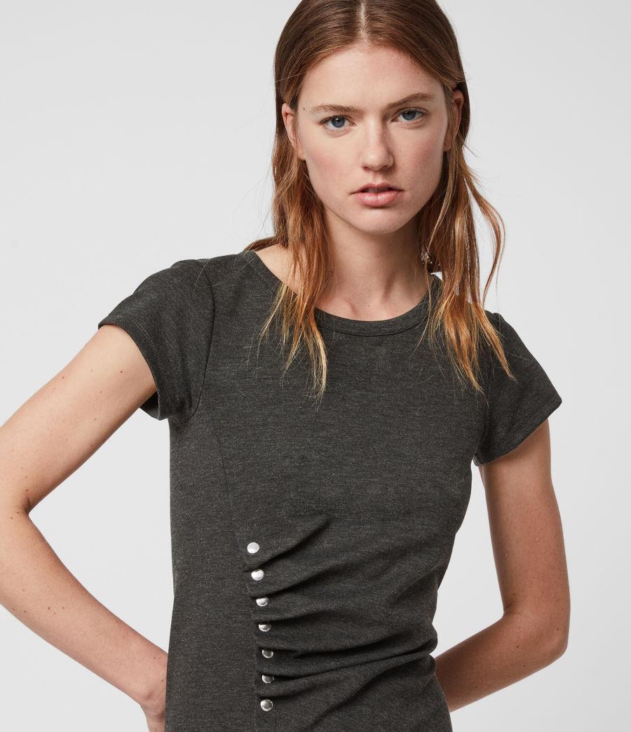 Mujer Hatti T-Shirt Dress (charcoal_grey) - Image 2