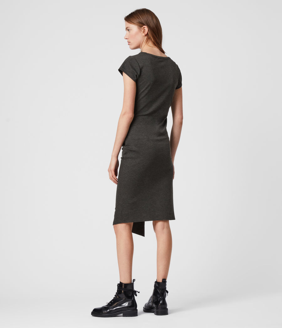 Mujer Hatti T-Shirt Dress (charcoal_grey) - Image 3