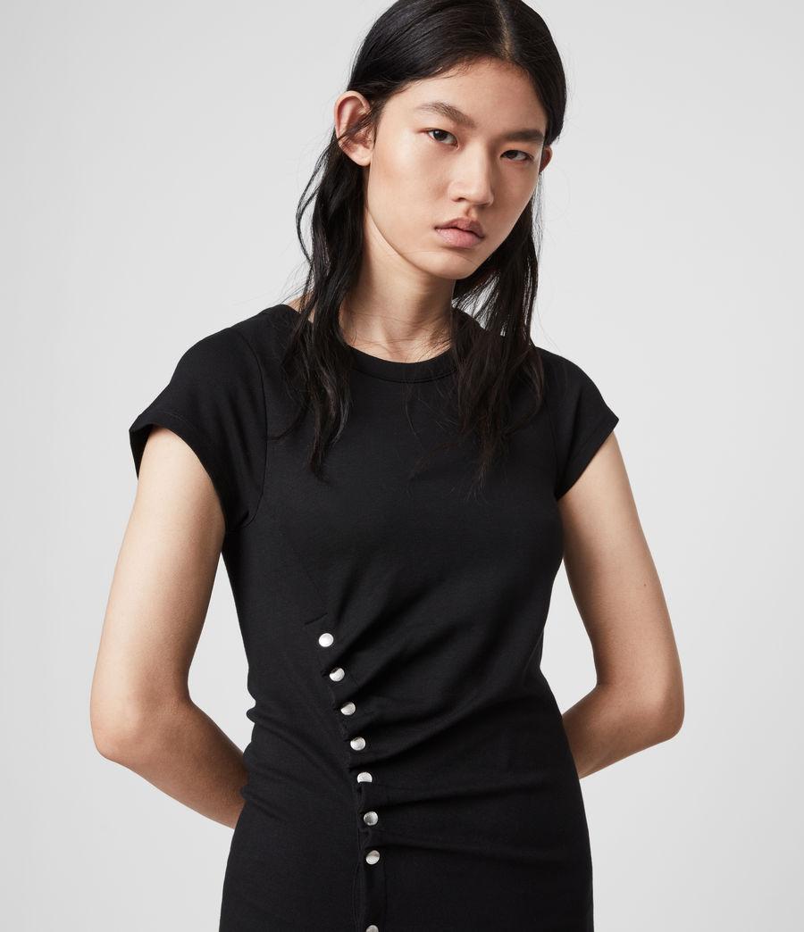 Femmes Robe T-Shirt à Manches Courtes Hatti (black) - Image 2