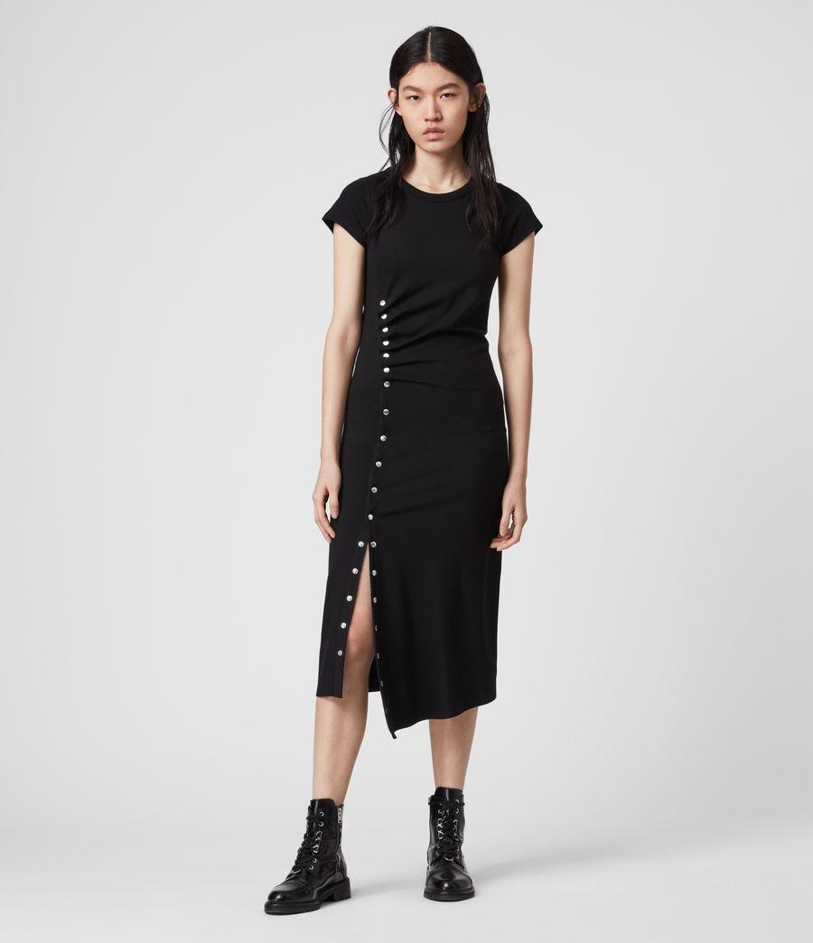 Femmes Robe T-Shirt à Manches Courtes Hatti (black) - Image 4