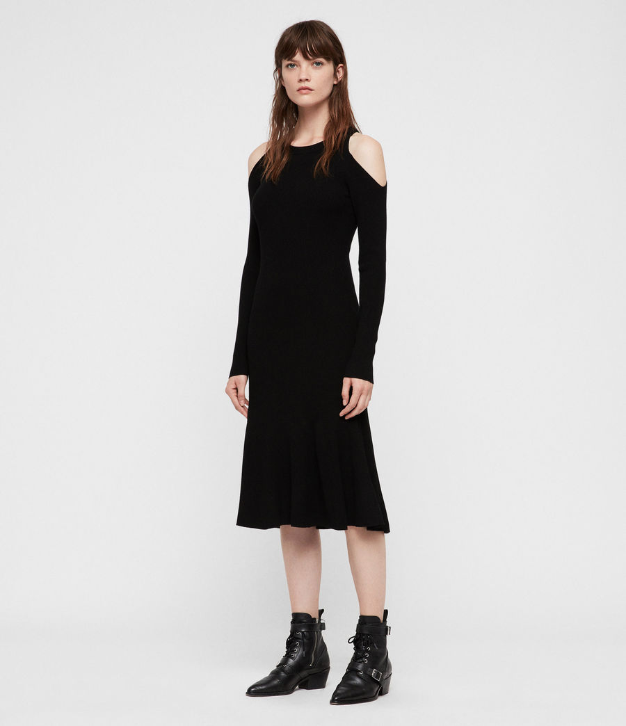 Women's Yasmin Dress (black) - Image 3