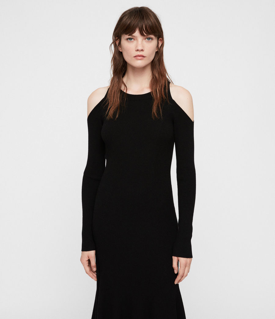 Womens Yasmin Dress (black) - Image 4