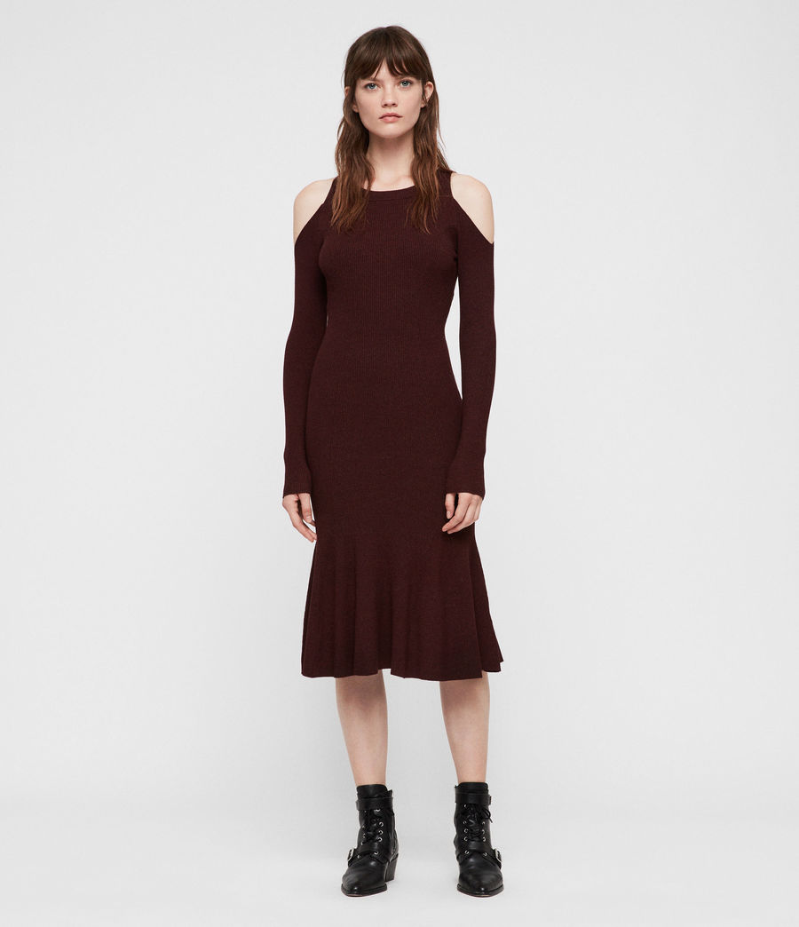 Womens Yasmin Dress (bordeaux_red_twist) - Image 1