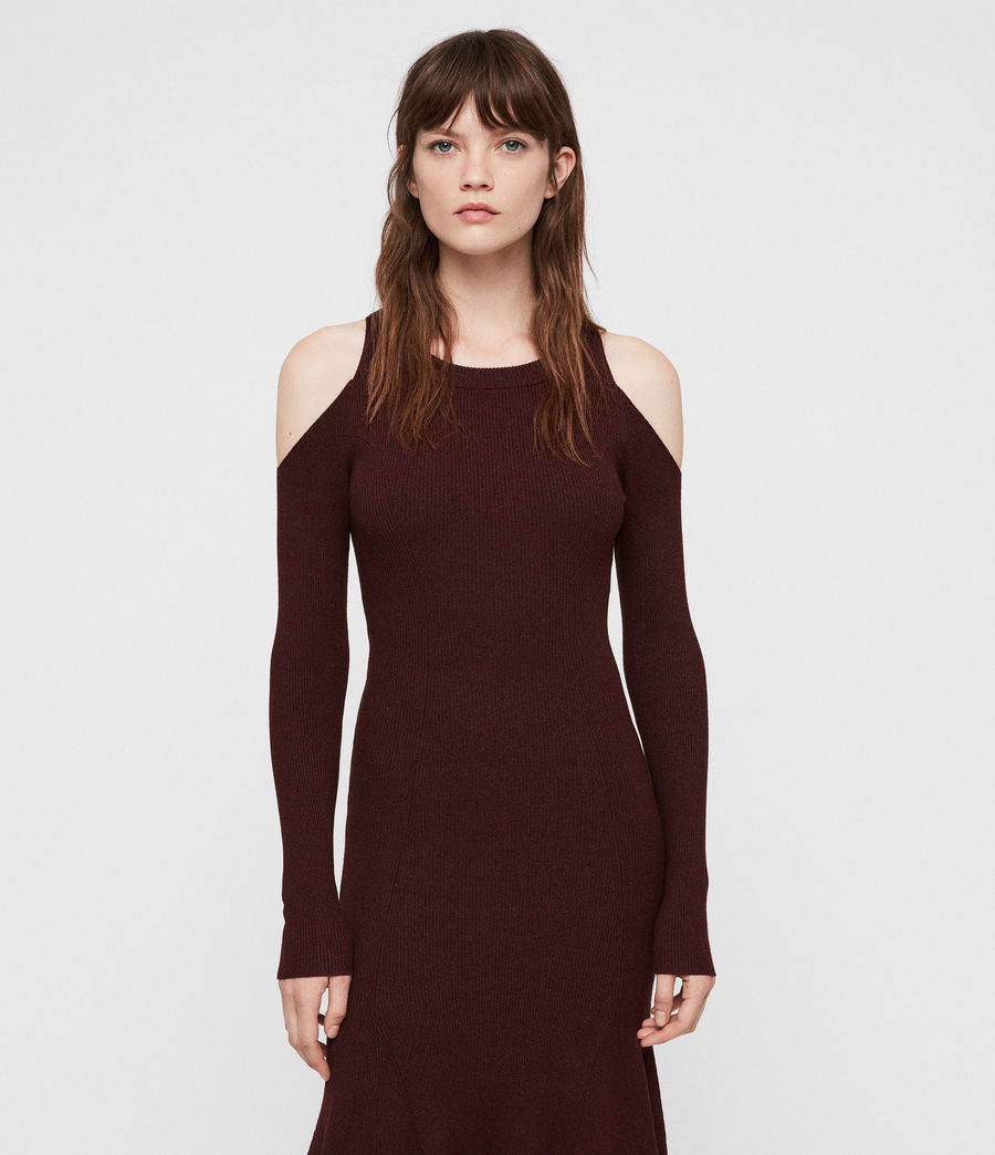 Womens Yasmin Dress (bordeaux_red_twist) - Image 3