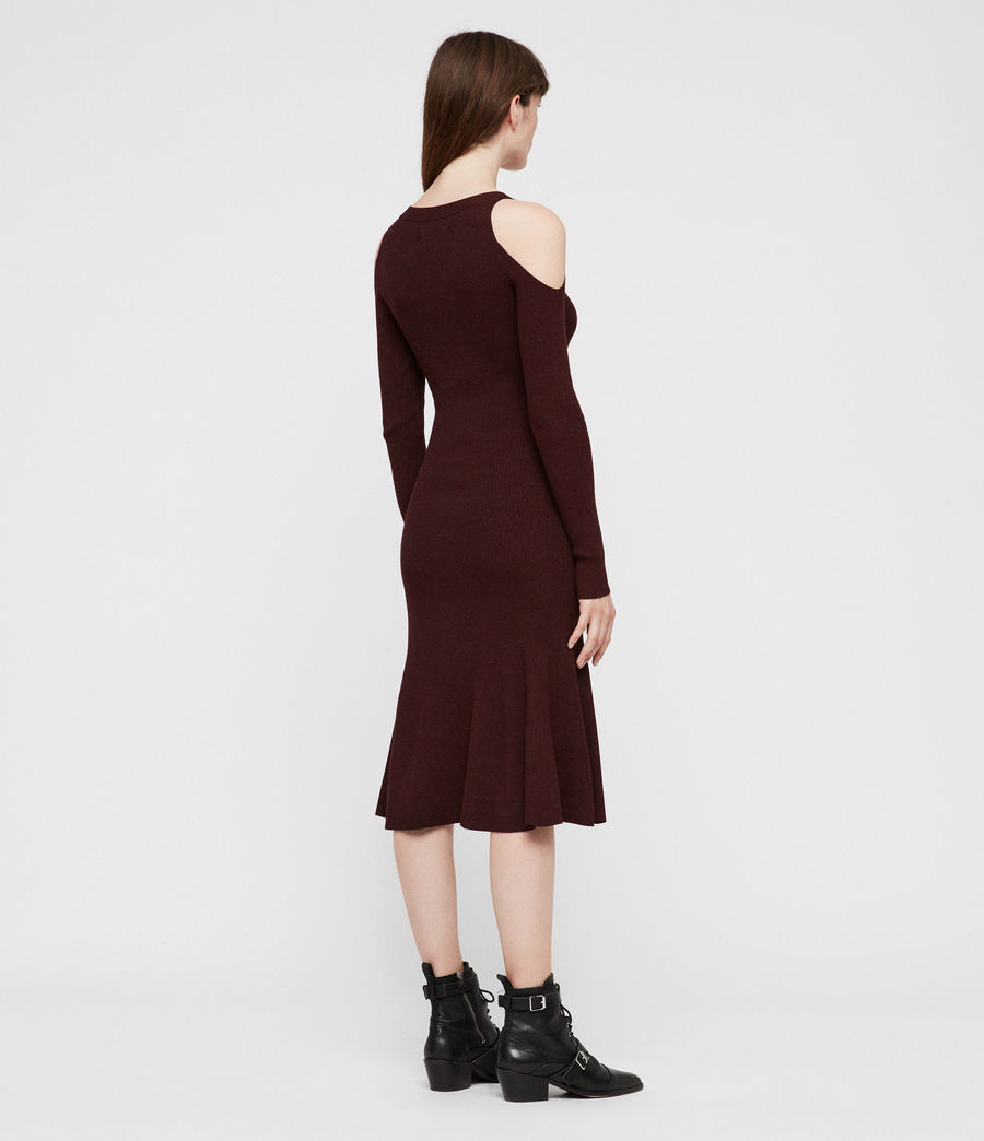 Womens Yasmin Dress (bordeaux_red_twist) - Image 4
