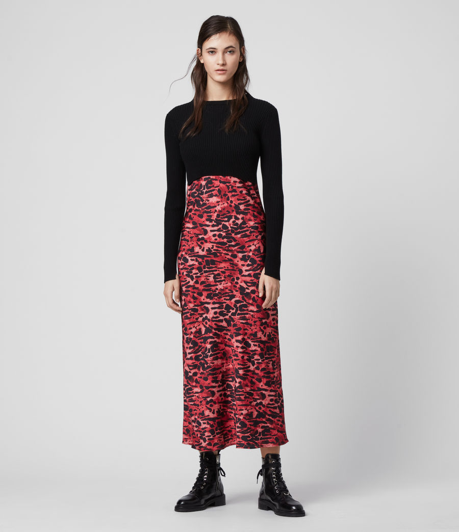 Mujer Hera Ambient Dress (black_red) - Image 1
