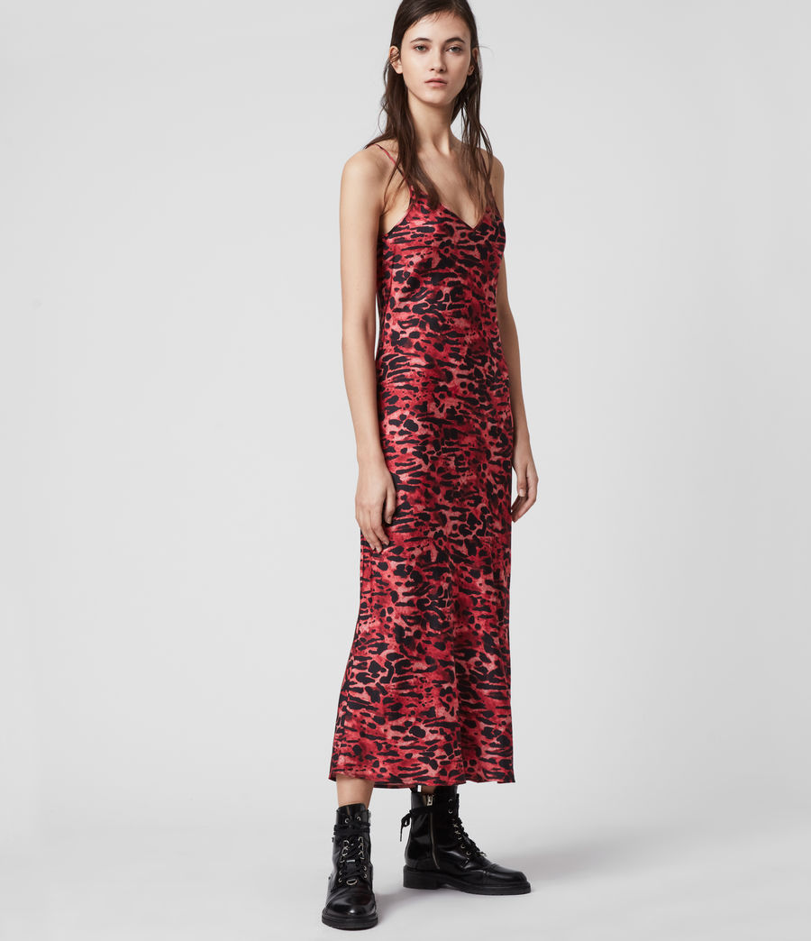 Mujer Hera Ambient Dress (black_red) - Image 3