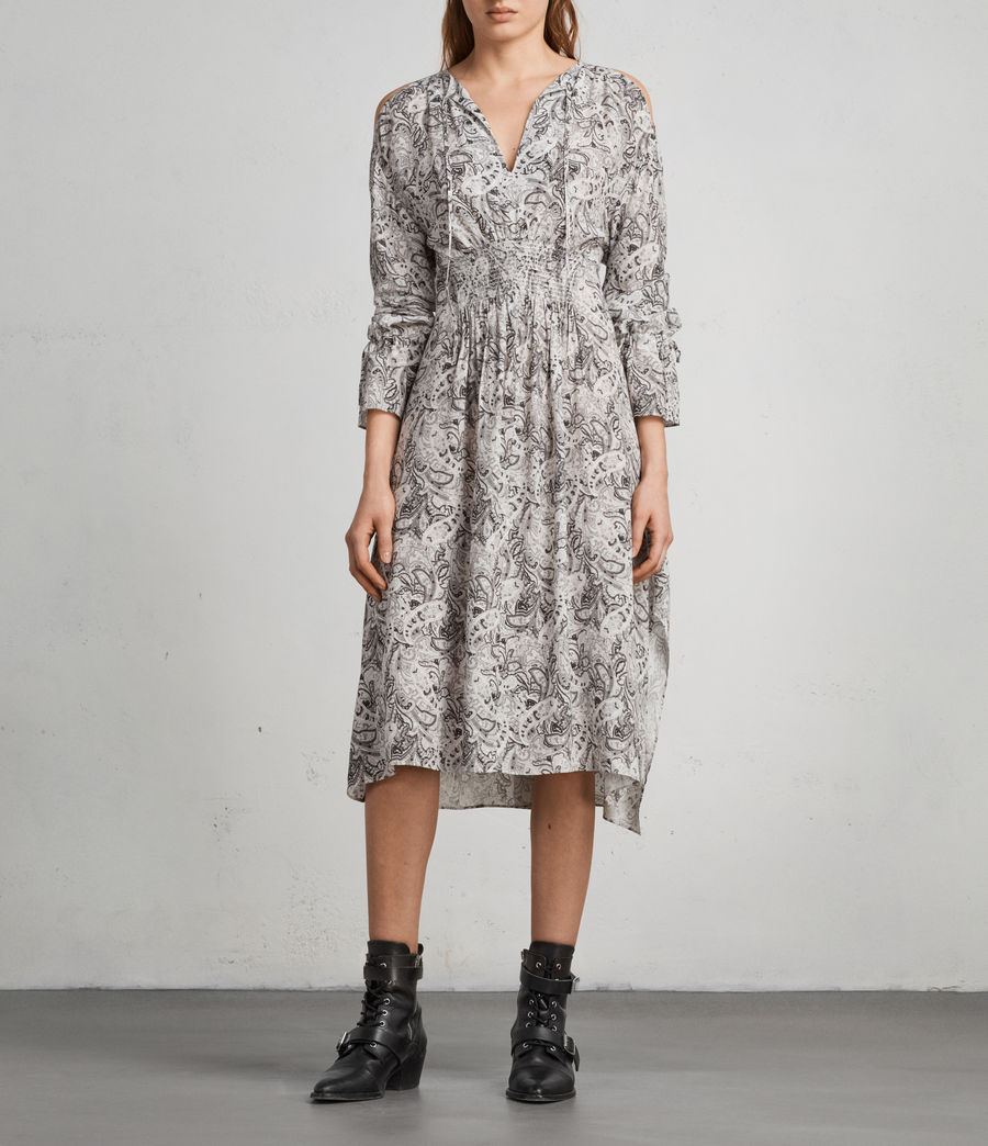 Women's Lavete Paisley Dress (white) - Image 1