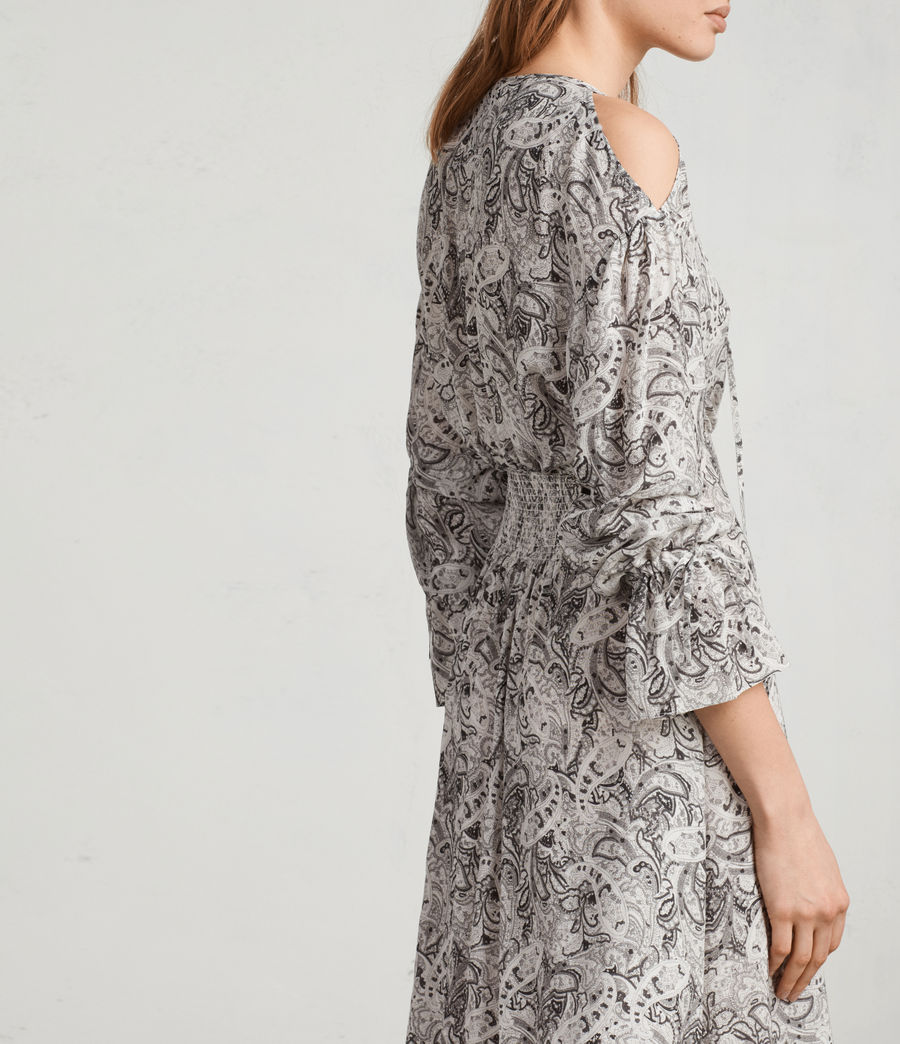 Women's Lavete Paisley Dress (white) - Image 2
