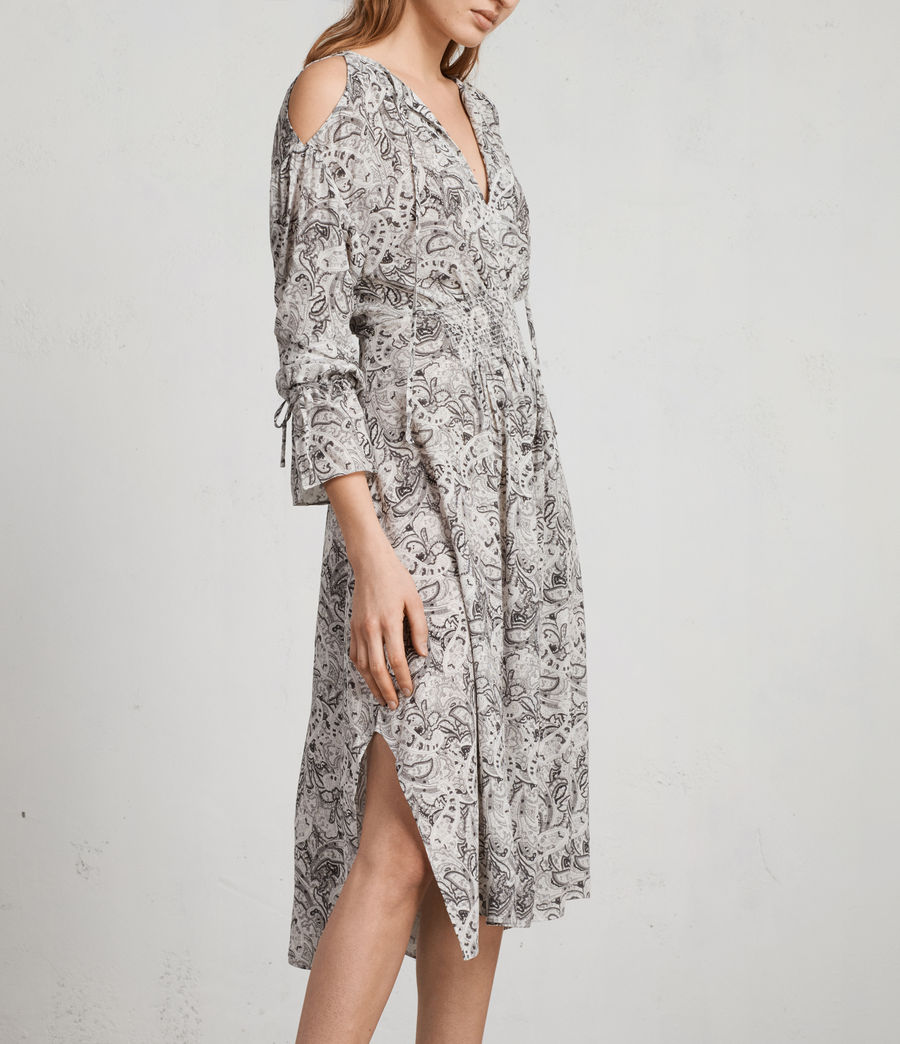 Women's Lavete Paisley Dress (white) - Image 3