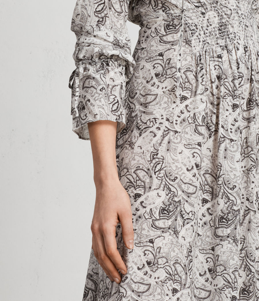 Women's Lavete Paisley Dress (white) - Image 4