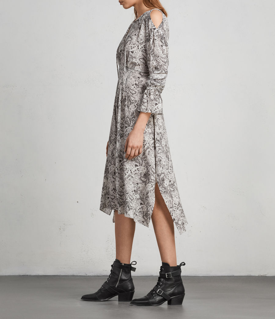 Women's Lavete Paisley Dress (white) - Image 5