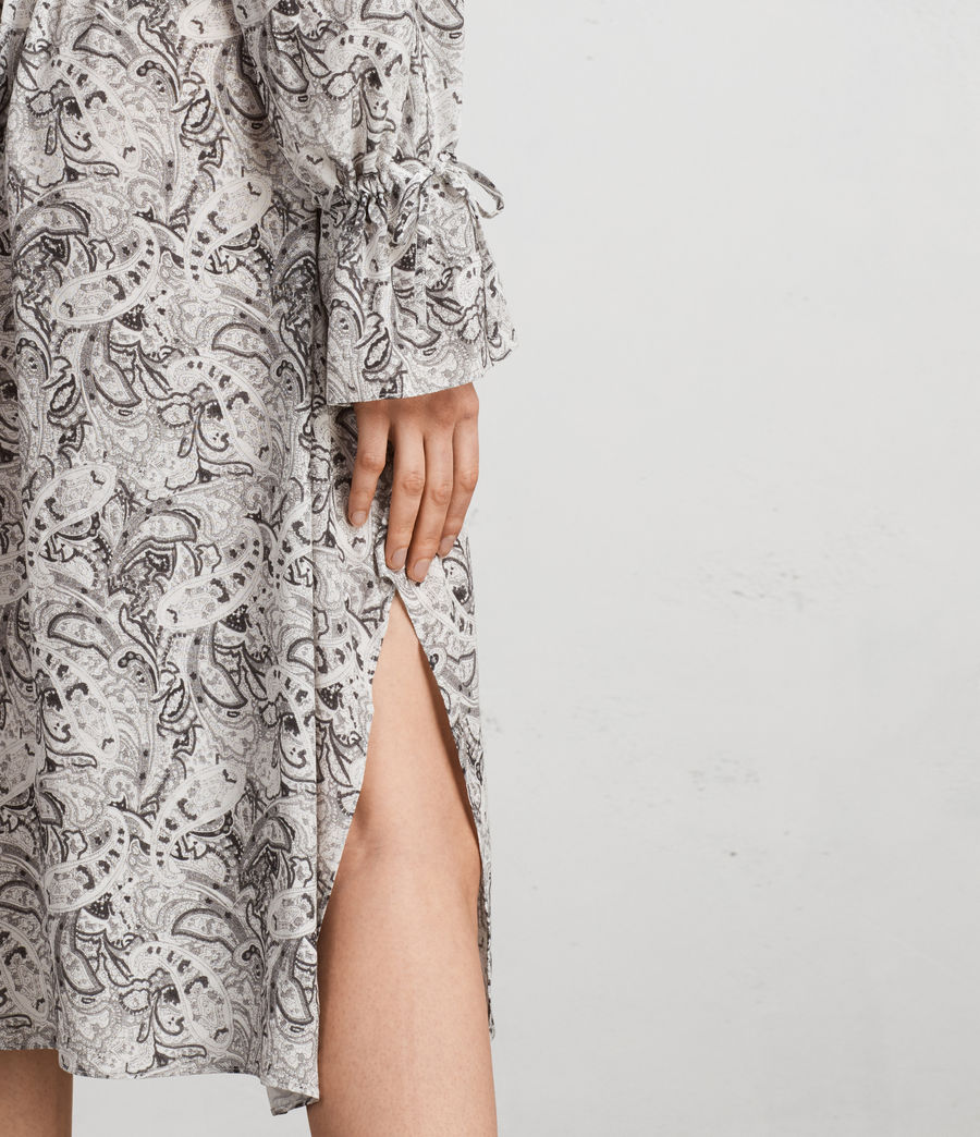 Women's Lavete Paisley Dress (white) - Image 6