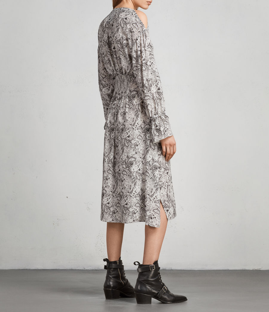 Women's Lavete Paisley Dress (white) - Image 7