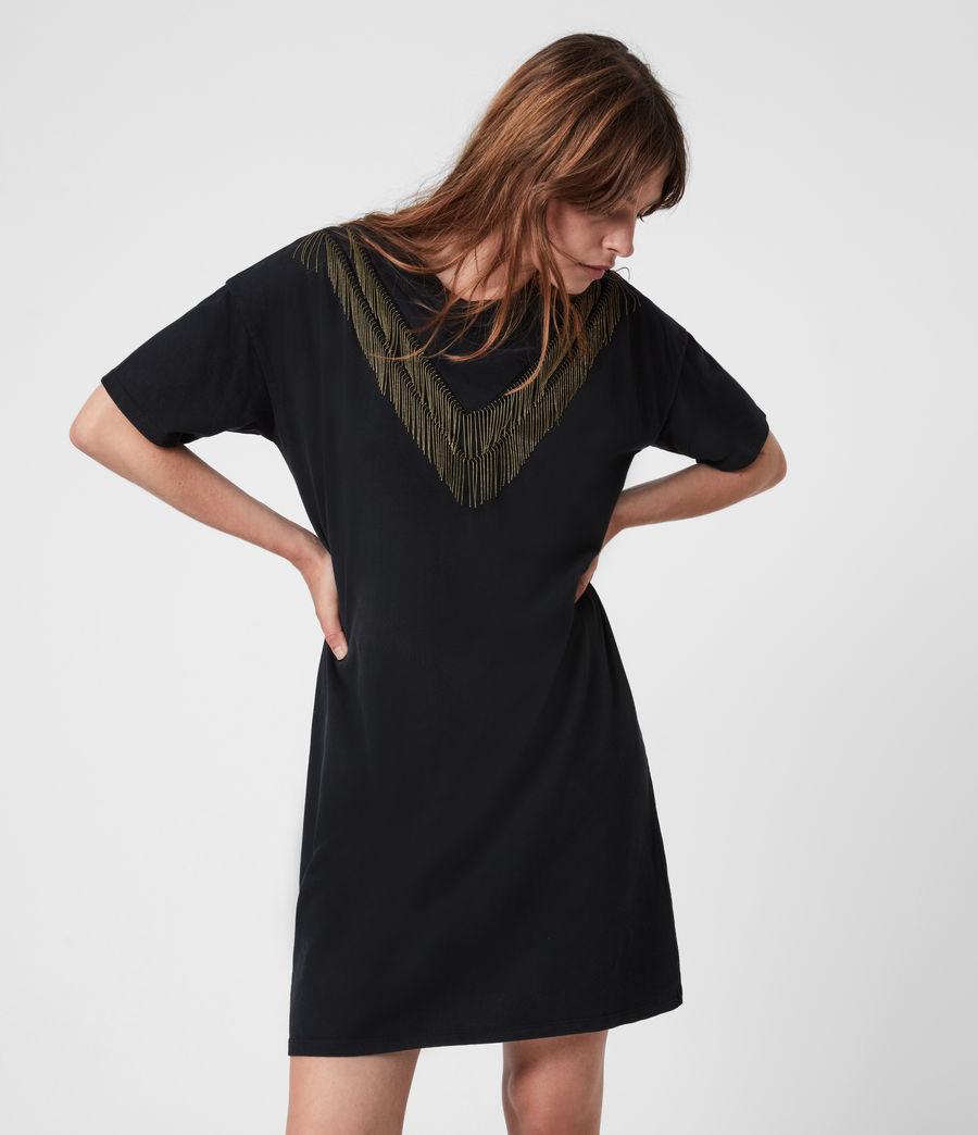 Women's Chain T-Shirt Dress (black) - Image 1