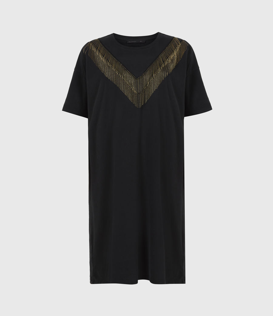 Women's Chain T-Shirt Dress (black) - Image 2