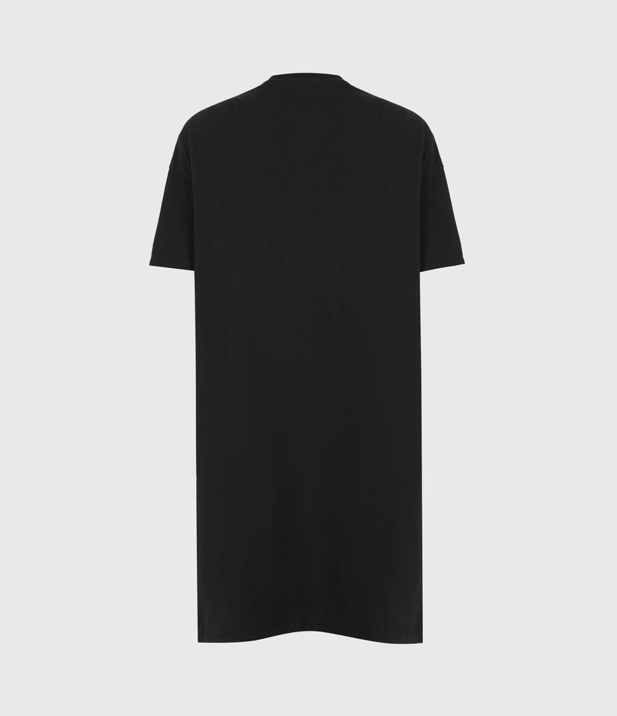 Women's Chain T-Shirt Dress (black) - Image 3