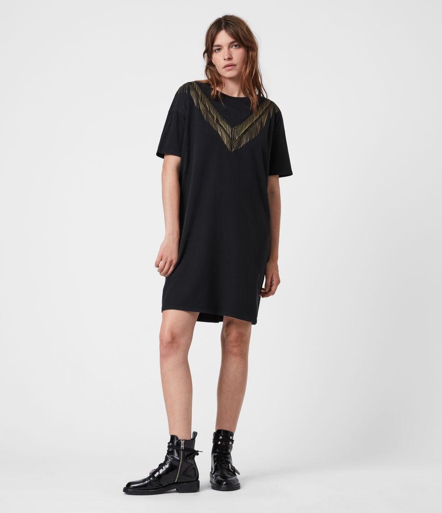 Women's Chain T-Shirt Dress (black) - Image 4