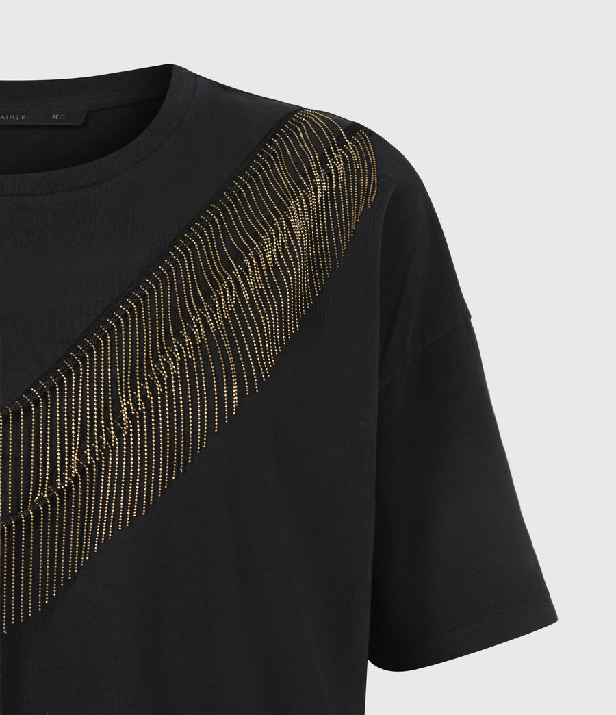 Women's Chain T-Shirt Dress (black) - Image 5