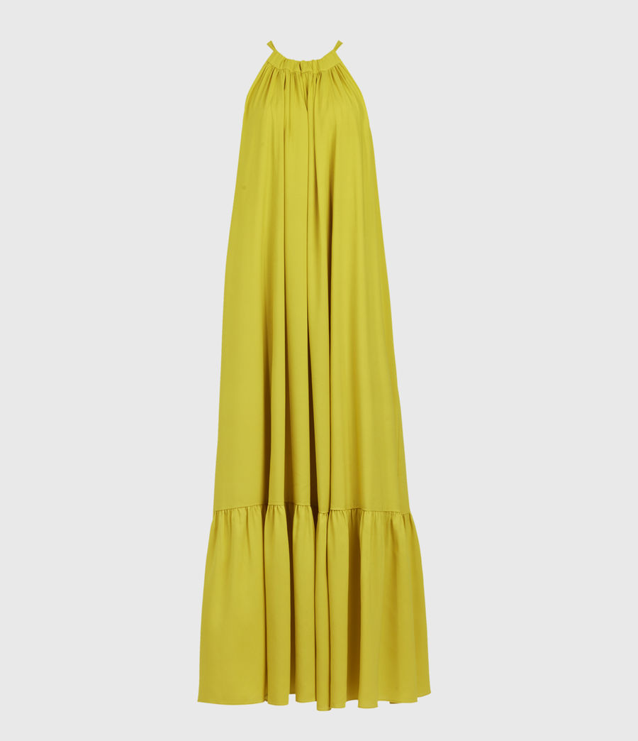 Womens Roma Dress (chartreuse_yellow) - Image 1