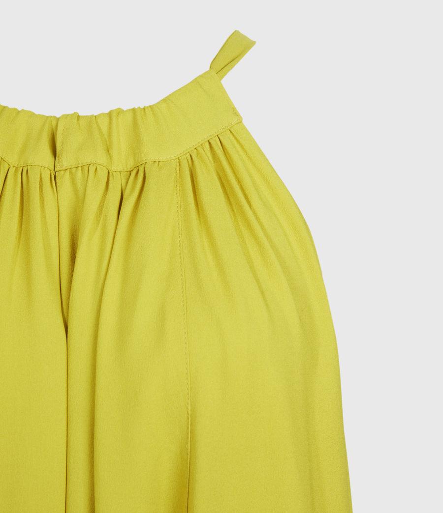 Womens Roma Dress (chartreuse_yellow) - Image 3