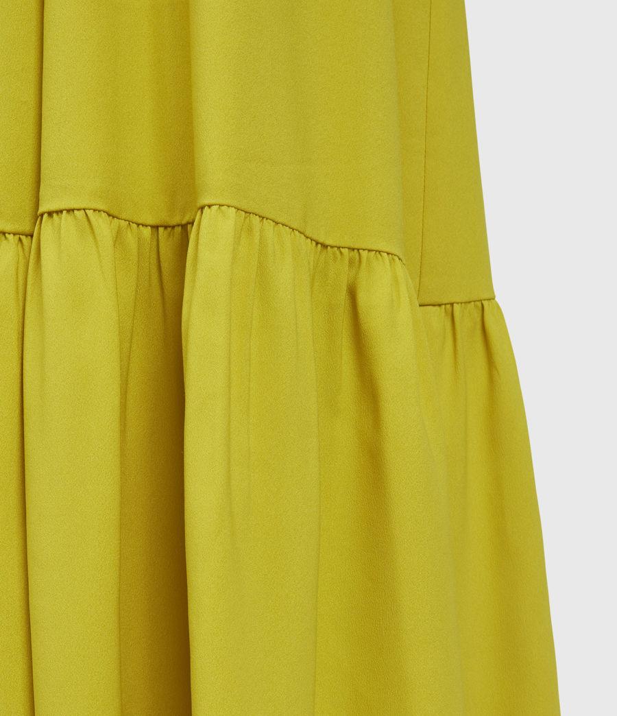 Womens Roma Dress (chartreuse_yellow) - Image 4