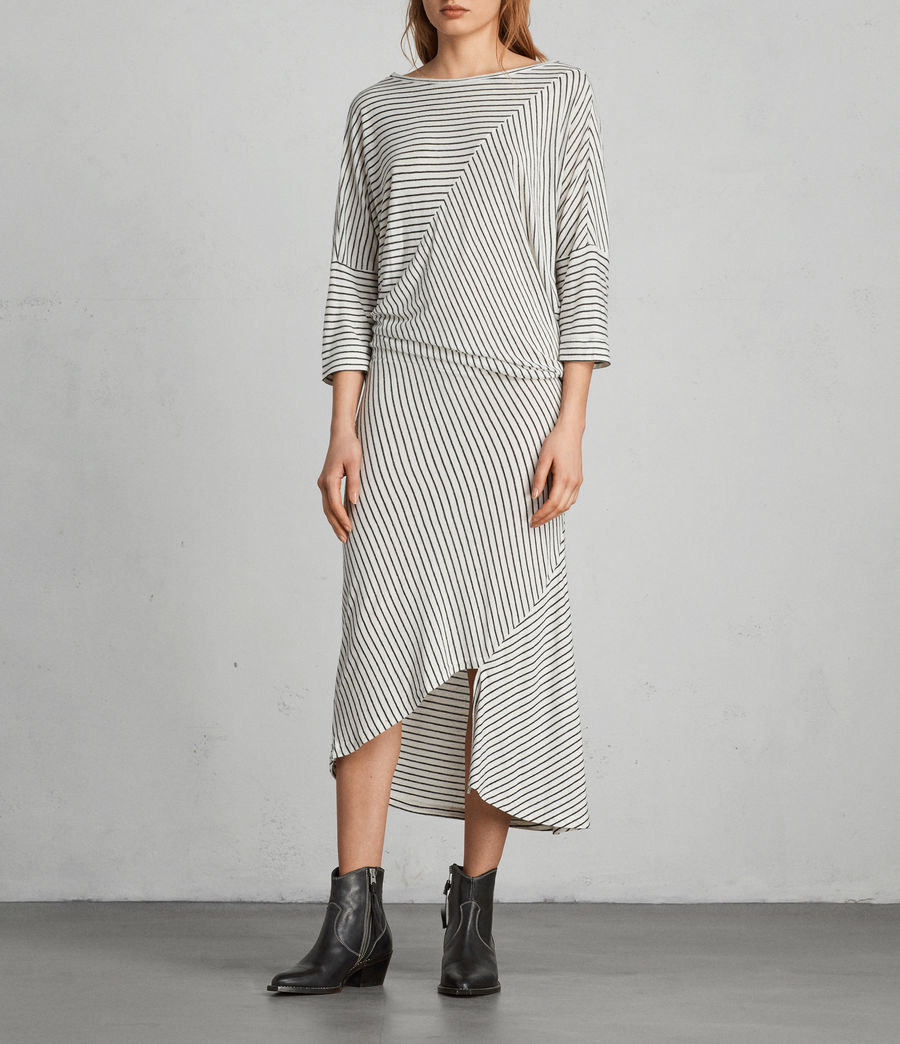 Women's Cadie Dress (ecru_white_black) - Image 1