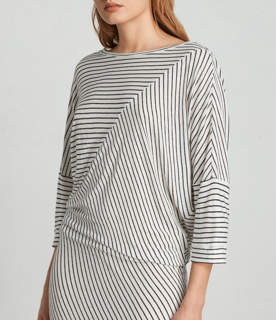 Women's Cadie Dress (ecru_white_black) - Image 2