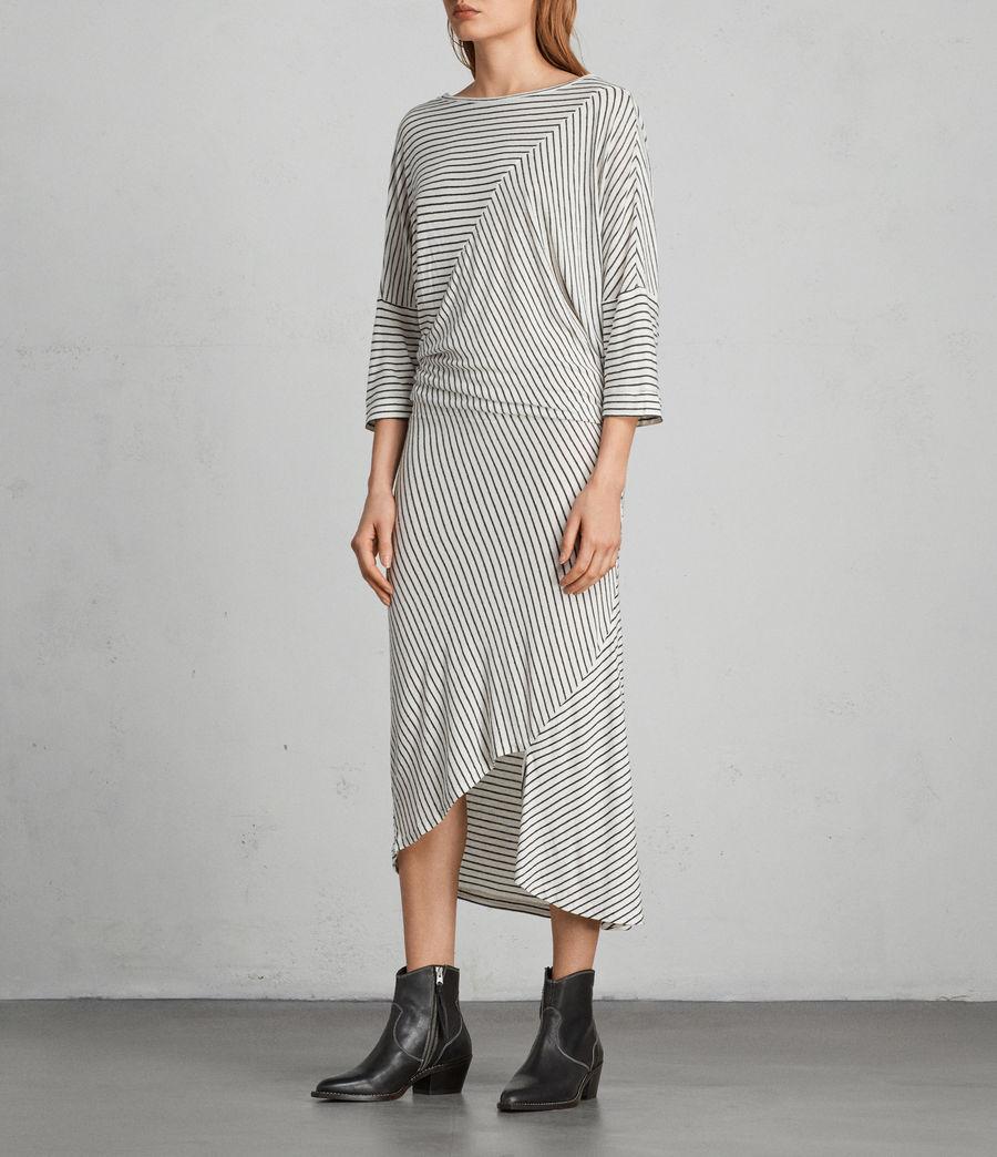 Women's Cadie Dress (ecru_white_black) - Image 3