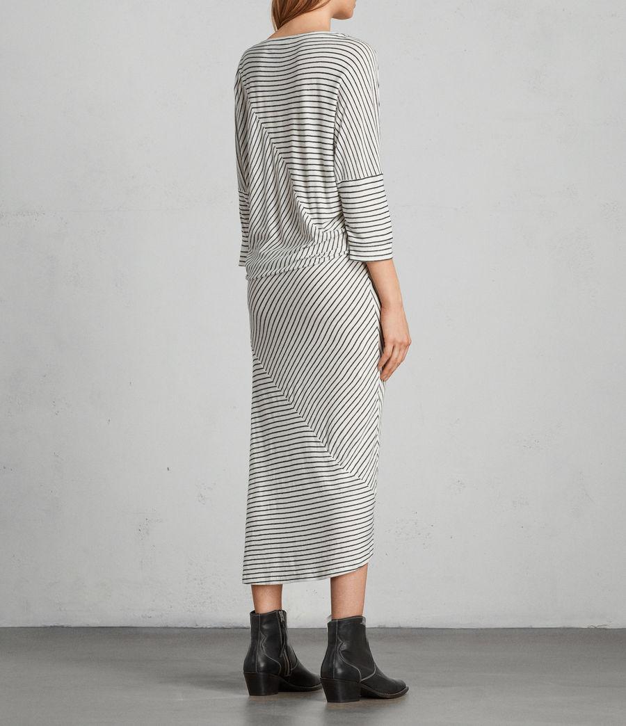 Women's Cadie Dress (ecru_white_black) - Image 4