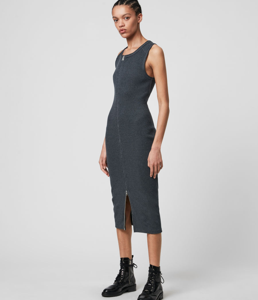 Donne Alicia Dress (charcoal_grey) - Image 3